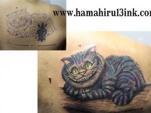 Tatuaje cover en la espalda