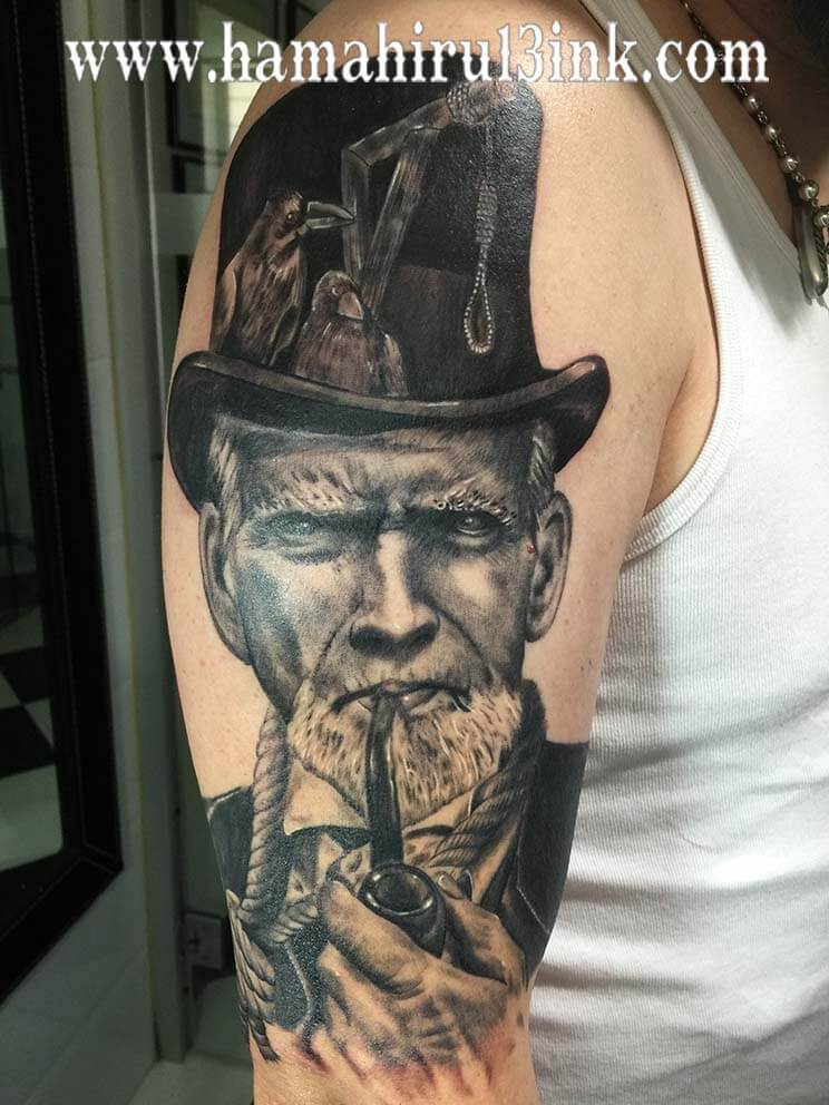 Tatuaje Clint Eastwood Hamahiru 13 Ink Tattoo & Piercing