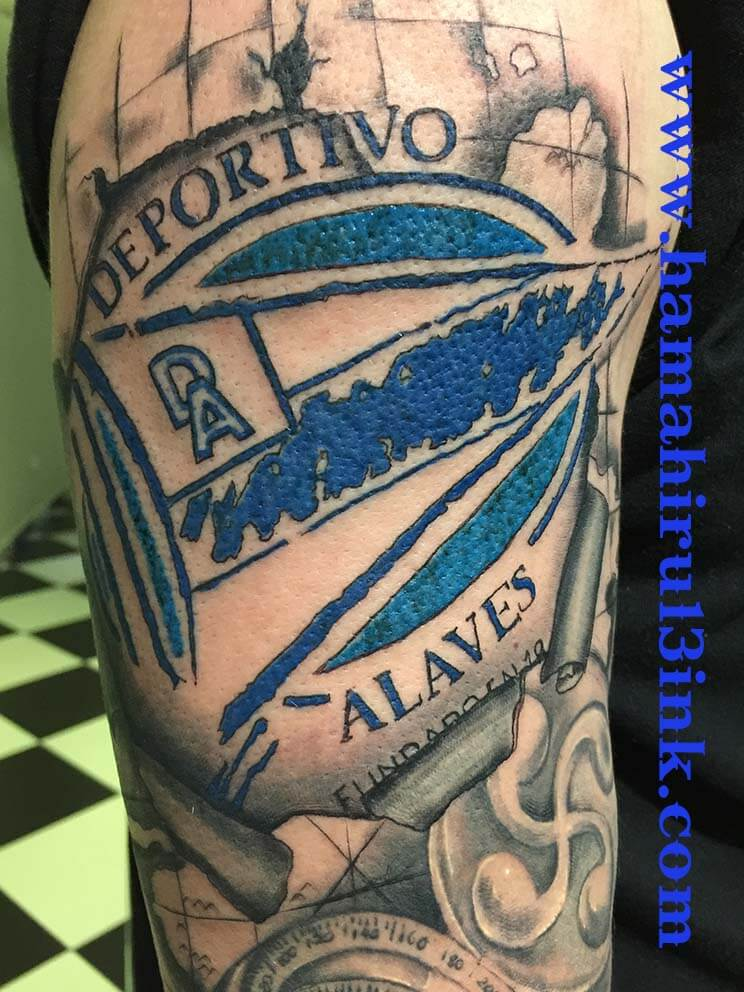 Tatuaje Deportivo Alaves Hamahiru 13 Ink Tattoo & Piercing