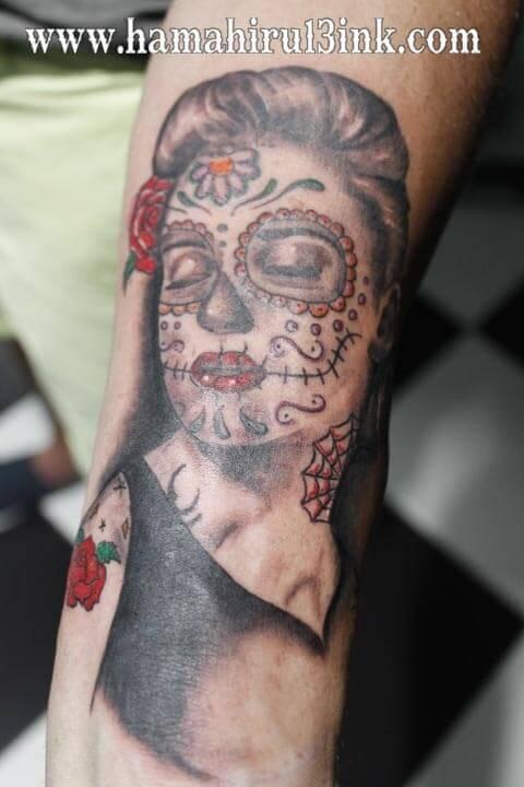 Tatuaje catrina Hamahiru 13 Ink Tattoo & Piercing.jpg