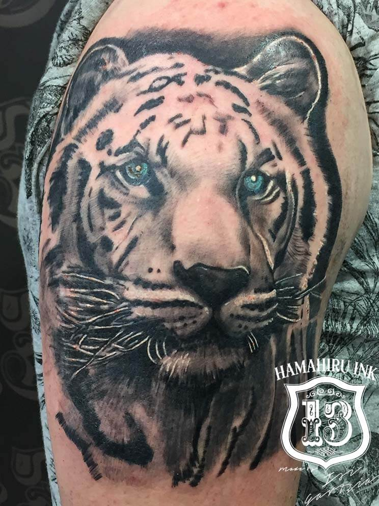Tiger Tattoo Hamahiru 13 INk Tattoo & Piercing