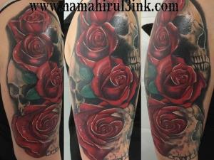 Tatuaje cover calaveras en color Hamahiru 13 Ink Tattoo & Piercing