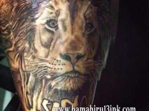 Tatuaje León Hamahiru 13 Ink Tattoo & Piercing