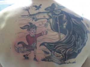Tatuaje Espalda Tim Burton Hamahiru 13 Ink Tattoo & Piercing