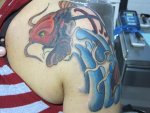 Tatuajes de carpas japonesas (Koi). Significado.