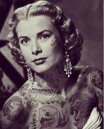 """Famosos con tatuajes"". El photoshop de Cheyenne Randall."