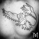 Tatuajes de una sola linea. Mo Ganji.