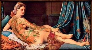 """La gran Odalisca"" Jean Auguste Dominique Ingres."