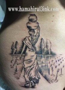 Tatuaje boceto Hamahiru 13 Ink Tattoo & Piercing Jessika 2